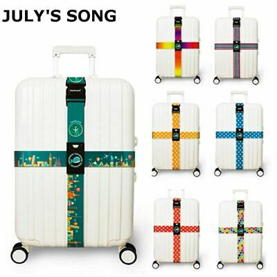 Luggage Strap Cross Belt Suitcase Band Nylon Adjustable Travel Accessories New