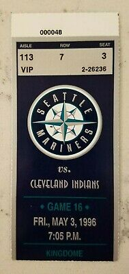 Seattle Mariners Cleveland Indians Baseball Ticket Stub 5/3 1996 Franco HR 124