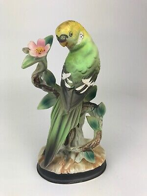 Vintage Ucagco Ceramic Japan PAROQUET Parakeet Bird Figurine