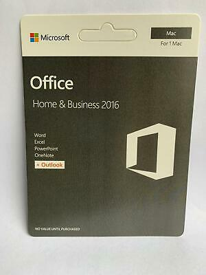 Microsoft Office Home and Business 2016 for Mac - Key Card