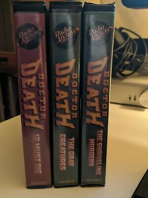Radio Archives DOCTOR DEATH audio books on CD  PULP HORROR OOP!