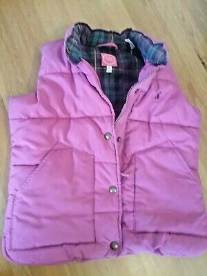 Age 5 Joules girls padded pink gilet/bodywarmer