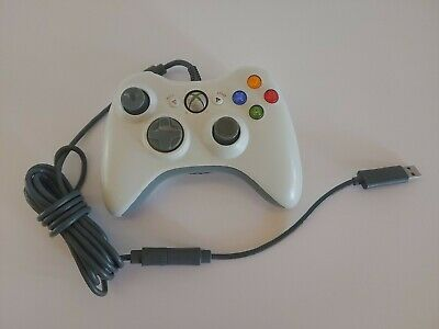 Microsoft Xbox 360 Wired Controller - White, FOR PARTS/DOES NOT WORK