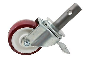 "Tower Scaffolding Caster 5""x2"", 1 3/8"" Stem W/Lock-in Brakes Grease Zerk Axle"