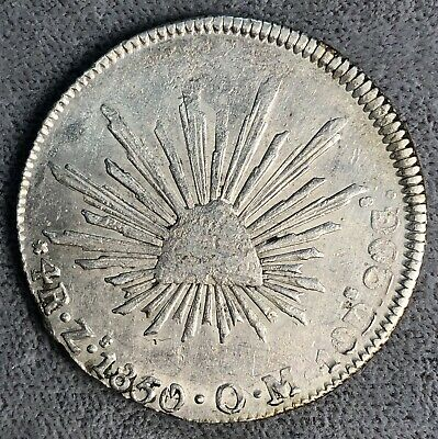 Mexico 4 Reales, 1850 Zs OM. KM# 375.9.