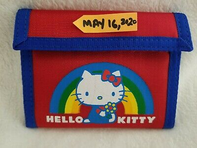 Hello Kitty Sanrio BLUE Vintage 1976, 1981 Nylon Wallet NEW