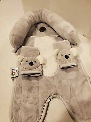 Travel Bug Baby Head Support & Strap Covers, Koala **BRAND NEW**