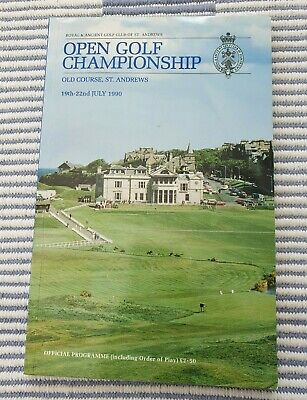 1990 Open Championship Programme + 3 Orders Of Play