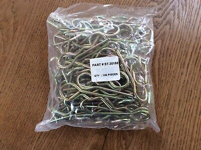 R clip r clips retaining cotter lynch pin 4mm pack of 100