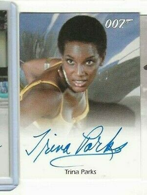Trina Parks James Bond autograph card Rittenhouse 007  THUMPER