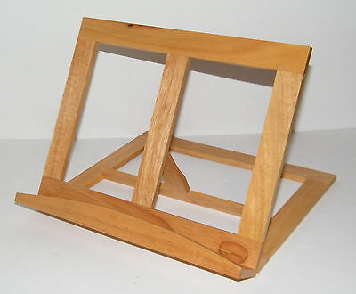 New Book Recipe Holder Cookbook Cooking Stand Wood Tabletop Easel Crafts