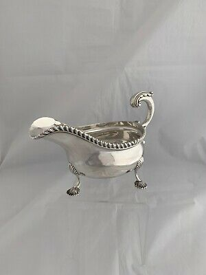 LARGE Antique Silver Sauceboat Or Gravy Boat 1913 LONDON Charles Stuart Harris