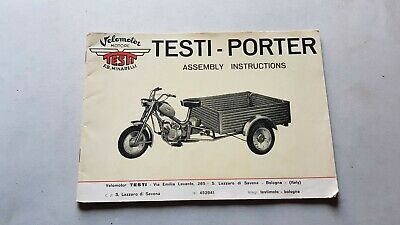 Testi 50 Porter motocarro manuale officina montaggio originale shop manual
