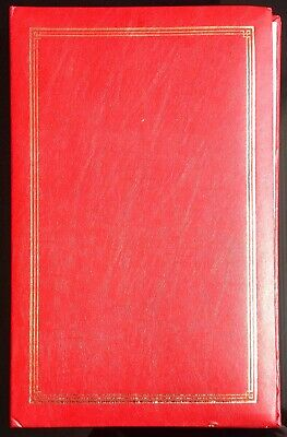 "Classic Red 7"" x 5"" Slip-in Photo Album Holds 80 Pictures. Used."