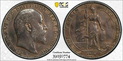 Great Britain, 1904 Edward VII Florin. PCGS AU 53. 2,770,000 Mintage.