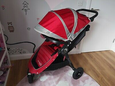 Baby Jogger City Mini GT Red & Black Pushchair Single Seat Stroller & Raincover