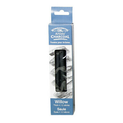 Winsor & Newton / Colart 7005174 Artists Willow Charcoal Thick 12 Sticks