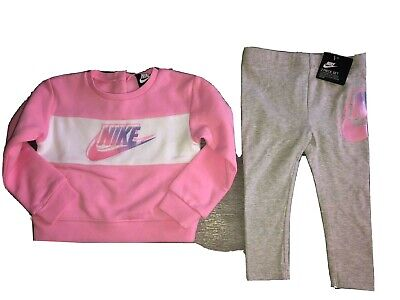 Baby Girls Pink Nike Tracksuit age 18-24 months