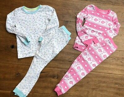 Girls Pair M&S Marks & Spencer Pyjamas Thermal Peppa Pig Ditsy Floral Size 5-6