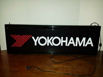 Yokohama Tire lighted sign Vintage Sign Yokohama