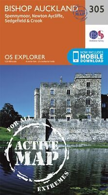 OS Explorer Active map 305: Bishop Auckland - Spennymoor and Newtown