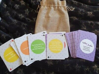1 pack of 52 Positive Birth Affirmations Playing Cards, hypnobirthing, baby