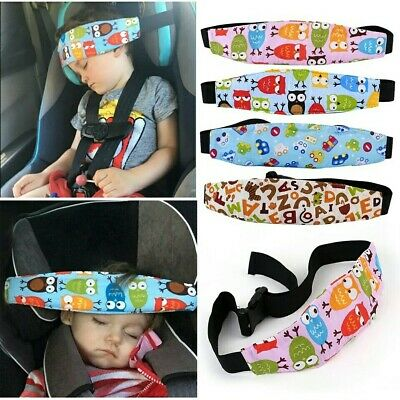 CHILD'S HEAD STRAP - Blue - Pram - Car Seat Belt Sleep Safety Strap - UK SELLER