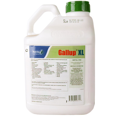 5L GALLUP XL PROFESSIONAL STRENGTH GLYPHOSATE 360g/L TOTAL WEED KILLER