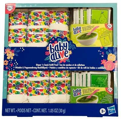 Baby Alive Doll Accessories Diaper and Snack Refill Pack