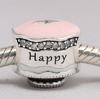 NEW Pandora Authentic Sterling Silver S925 ALE Happy Birthday Cake Tart Charm