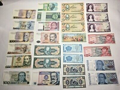 106 World Currency Banknote Collection 35 Countries Mostly Unirculated NR