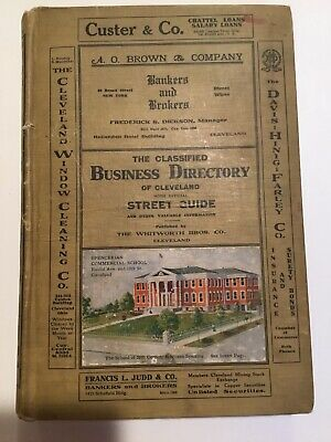 1907 Cleveland Ohio City Directory All Residences And Businesses, Ads & Research