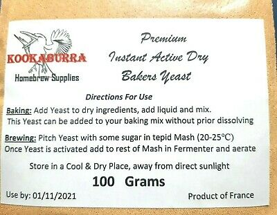Premium Bakers Yeast 500 Grams Baking /& Home Brew Free Next DayPost from NSW