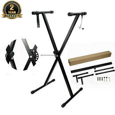Height Adjustable Electronic X Piano Keyboard Stand Music Standard Portable Rack