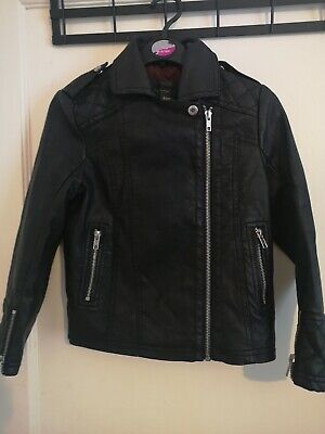 River Island girls faux leather jacket age 7 years G1