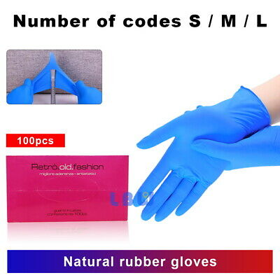 100Pcs Premium Nitrile Blue Rubber Cleaning Gloves Powder Free Non Vinyl Latex