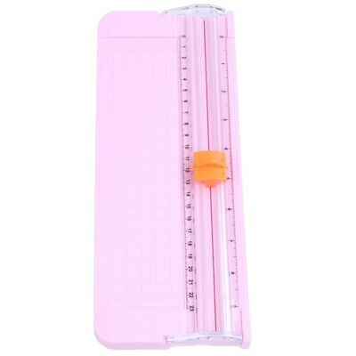 5X(JIELISI 9090 Mini Small Slide Cutter Cut Paper Cutter Cutter Color:Pink C2U8)