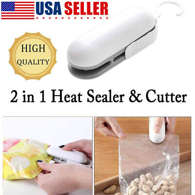 Portable Mini Heat Sealing Machine Plastic Bag 2 In1 ABS Sealer/Cutter