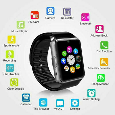 GT08 Touch Screen Bluetooth Orologio Intelligente Smart Watch per IOS Android