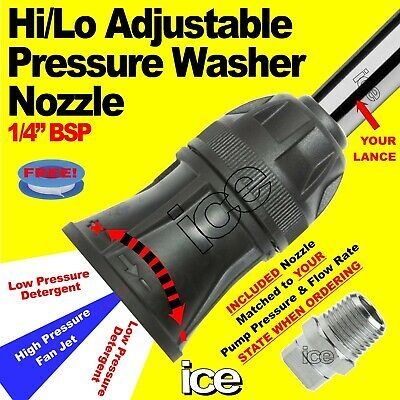 Pressure Washer Variable Adjustable High Low 2-Way Detergent Chemical Nozzle Jet