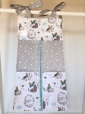 Handmade Peter Rabbit Nappy Stacker for a Girl or Boy. Ideal Baby Shower Gift.
