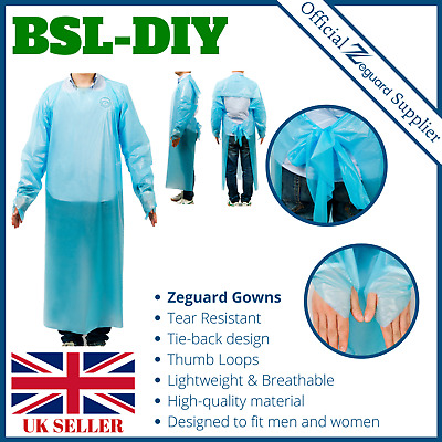 Disposable Durable Isolation Gown Blue Protection apron Clothing open back