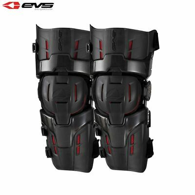 EVS RS9 Pro MX Motocross Knee Braces Adult Black/Red - Size Small