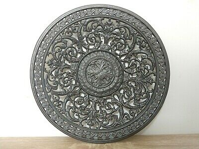 Coalbrookdale Style Antique cast iron/metal decorative pierced table plate dish