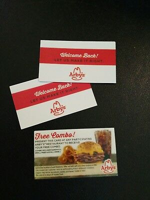 (3)  Arby's Combo Meal Voucher, NO EXPIRATION, Shipping 1 Business Day