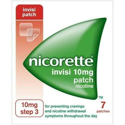 Nicorette Invisi Patch Step 3, 10mg Nicotine Patches, 7 Day Kit FAST & FREE P&P