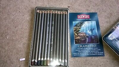 Dewent Graphitint pencils for artists- 12 coloured soluble graaphite pencils