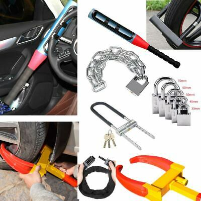 Auto Car Anti-Theft Lock Security Rotary Steering Wheel Front handlebar Lock