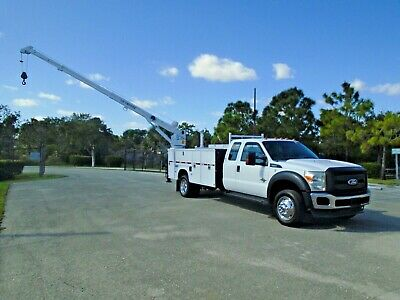 Ford F550 Diesel Service Utility Mechanics 6K Lbs Liftmoore Crane Truck