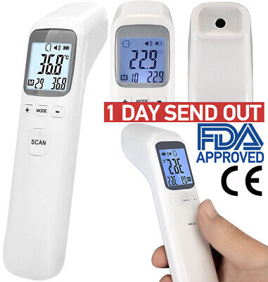 Digital IR Infrared Forehead Thermometer Gun No Touch Adult Body Temperature LCD